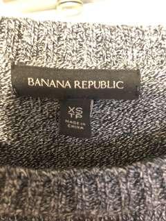 Banana republic sweater with the leather trim