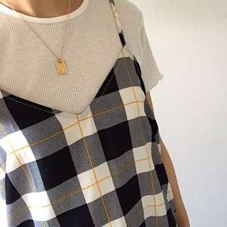 Clueless inspired checked mini dress