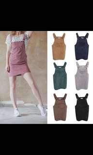 🚚 PO (6 Colours) Suede Skirt Overall
