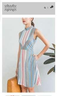 Brand New Cindy Striped Cheongsam uk10