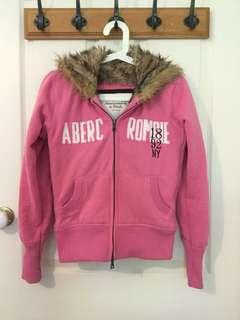 Abercrombie & Fitch Pink Fur Jacket