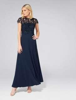 Forever New Shanae Lace Maxi Dress Size 8