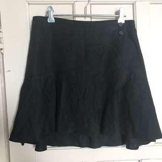 Country Road Linen Wrap Skirt