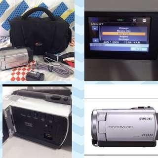 Sony Handycam dcr-sr47 package with bag