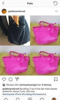 Bundling 2 tas authentic furla dan kate spade