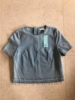 Kookai Denim Top Size 38