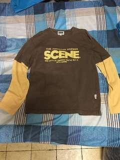 Scene shirt with sleeves
