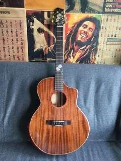 🚚 LS Guitar Full Solid Mahogany