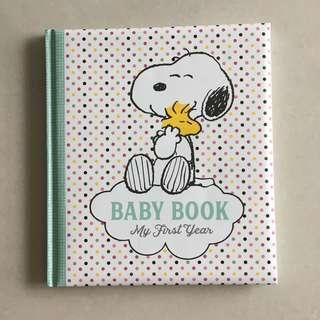 🚚 Snoopy Baby's First Year Journal / Scrapbook