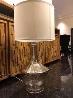 🚚 Brand New! Mercury Silver Table Lamp
