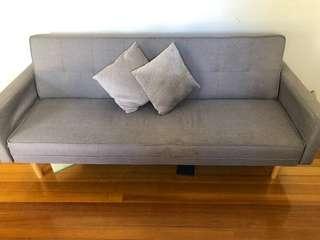 3 seater click clack sofa