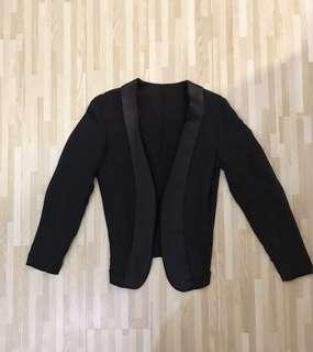 JNBY Black Tuxedo Silk Reversible Blazer 黑色雙面西裝褸