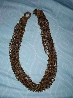 Brown beaded necklace #febsale