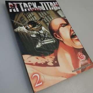 Attack On Titan Volume 2 - Hajime Isayama [STOCK TERBATAS]