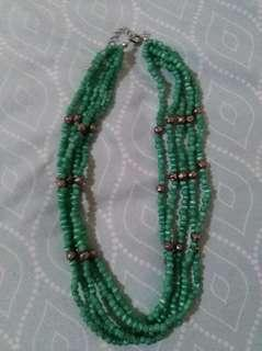 Green multi layered necklace #febsale