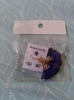Floral blue earrings #febsale