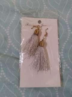 Silver tassel earrings #febsale