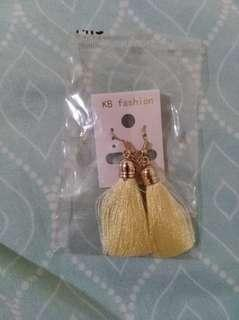 Cream tassel earrings #febsale