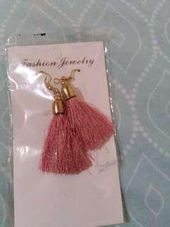 Pink tassel earrings #febsale