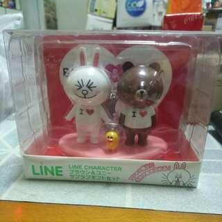 Line Character 公仔 Set (Brown & Cony)