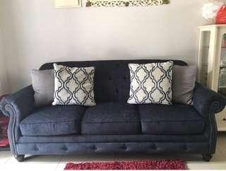 Ashley sofa set 3+2 seater preloved excellent