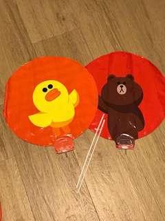 Line Friends balloons 熊大氣球