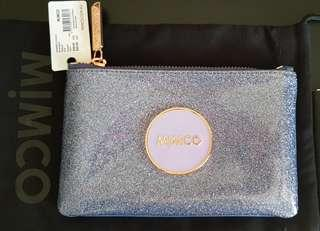Mimco Blue Shimmer Pouch - BNWT