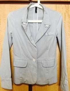🚚 Fashion Lab - Blue & White Strips Blazer / Jacket #springcleanandcarousell50