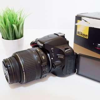 Kamera DSLR Nikon D5100 Fullset bukan Mirrorless Canon
