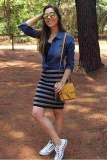 Dress and Denim Blazer Set