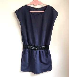 Iora Navy Tunik / Mini Dress | #CNY2019