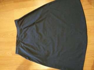 Cotton Dark Blue Skirt