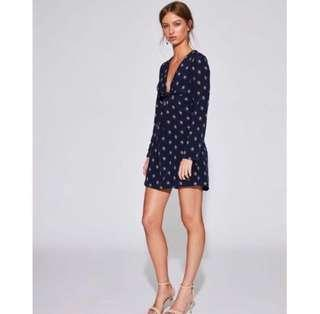 RENT Sir the label solene knotted mini dress
