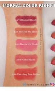 Loreal colour riche matte lipstick
