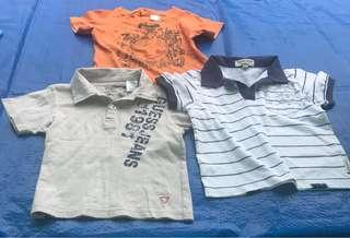 2 guess polo shirt & 1 shirt (size large)