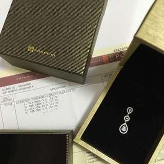 Exquisite Poh Heng diamond pendant necklace box FREE Lee Hwa chain