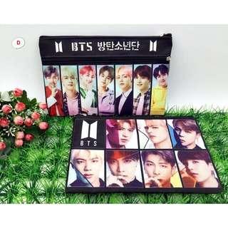 BT21 BTS PENCIL CASE BTS MAKE UP BAG BTS BAG Jimin V kim tae hyung Jungkook Jhope Rap Monster RM Jin Suga Bts wallet bts purse bts pouch