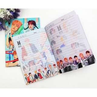 BT21 BTS NOTE BOOK 120pg Jungkook Jimin V Kim Tae Hyung Jhope Jin RM Rap Monster BTS book buku nota buku BTS fake love