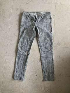 Sass and Bide Jeans White and Grey Zebra Size 27