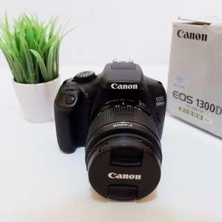 Kamera DSLR Canon 1300D Fullset bukan Mirrorless Nikon Fujifilm Sony