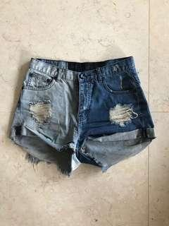 One Teaspoon Denim Shorts Size 28