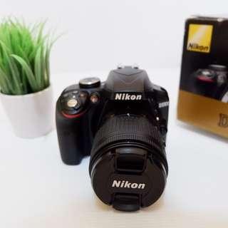 Kamera DSLR Nikon D3300 Fullset Kamera DSLR bukan Mirrorless Canon Sony Lumix Fujifilm