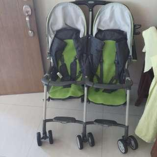 Preowned combi twin double stroller
