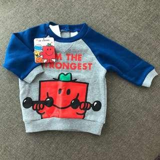 Mr Strong Baby Sweater