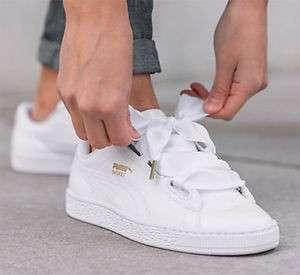 Puma Basket Heart Sneaker (White)