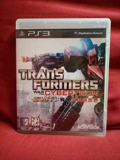 PS3 GAME TRANSFORMER WAR FOR CYBERTRON
