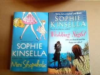 10 books: Me Before You / Lucky Break mini shopaholic wedding night