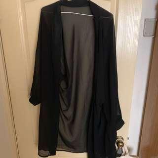 🚚 全新-黑色罩衫