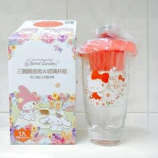 🚚 7-11集點 Hello Kitty 凱蒂貓 三麗鷗 正版 盆栽 玻璃杯 豬年特別款 桃花杯