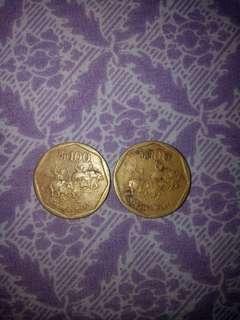 UANG KOIN 100 RUPIAH LANGKA 1997